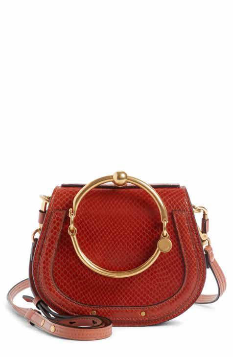 Chloé Small Nile Bracelet Snake Embossed Leather Crossbody Bag 16ebd0a8619a6