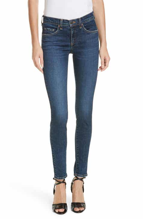 Topshop Jamie Button Fly High Waist Ankle Skinny Jeans by TOPSHOP
