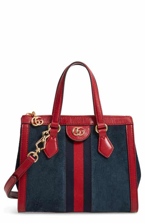 Gucci Ophidia Small Suede Leather Convertible Tote Bag