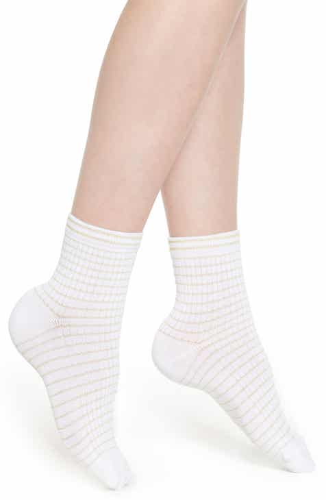 Nordstrom Soft Rib Stripe Ankle Socks by NORDSTROM