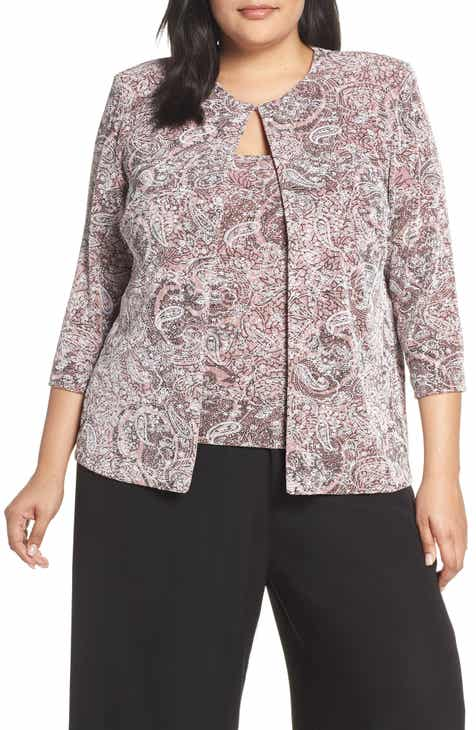 e2388e4338e49 Alex Evenings Paisley Print Twinset (Plus Size)