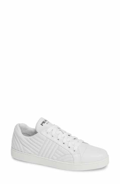 Prada Quilted Low Top Sneaker (Women) 880b72cc55