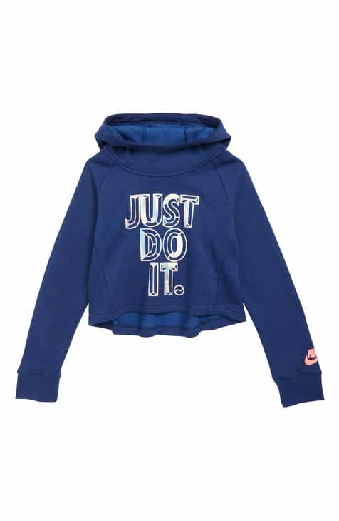 cdce1e803c3a Nike JDI Crop Hoodie (Big Girls)