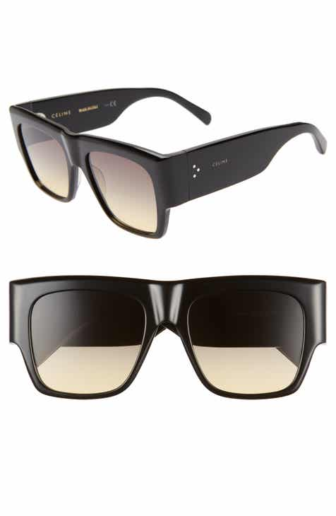 ab7df4c55b Céline 56mm Special Fit Gradient Flat Top Sunglasses