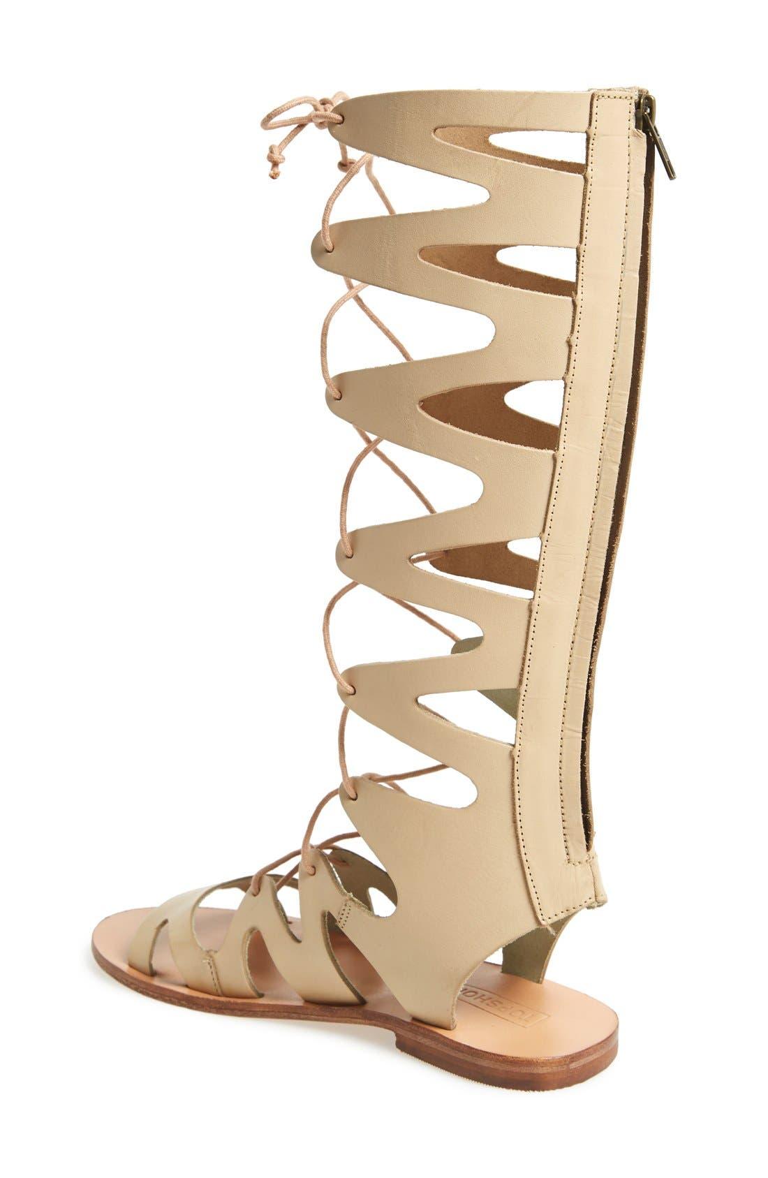 Alternate Image 2  - Topshop 'Figtree' Leather Gladiator Sandal (Women)