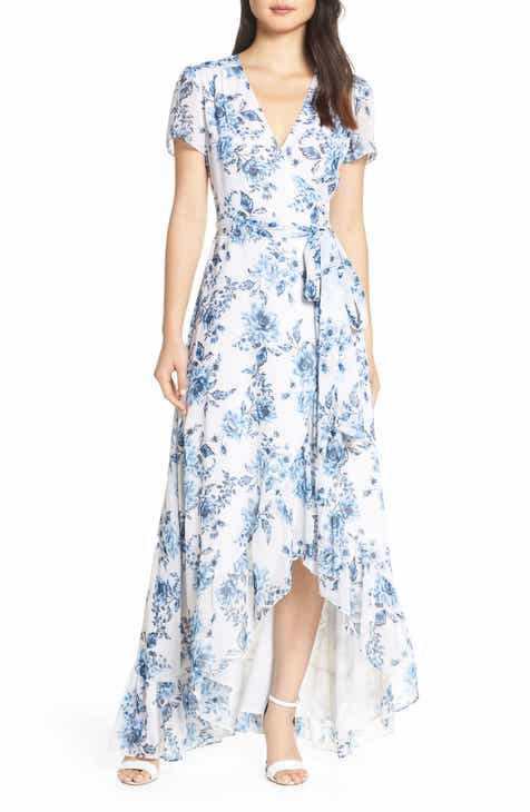 671966c1a4 WAYF The Natasha Floral Wrap Maxi Dress