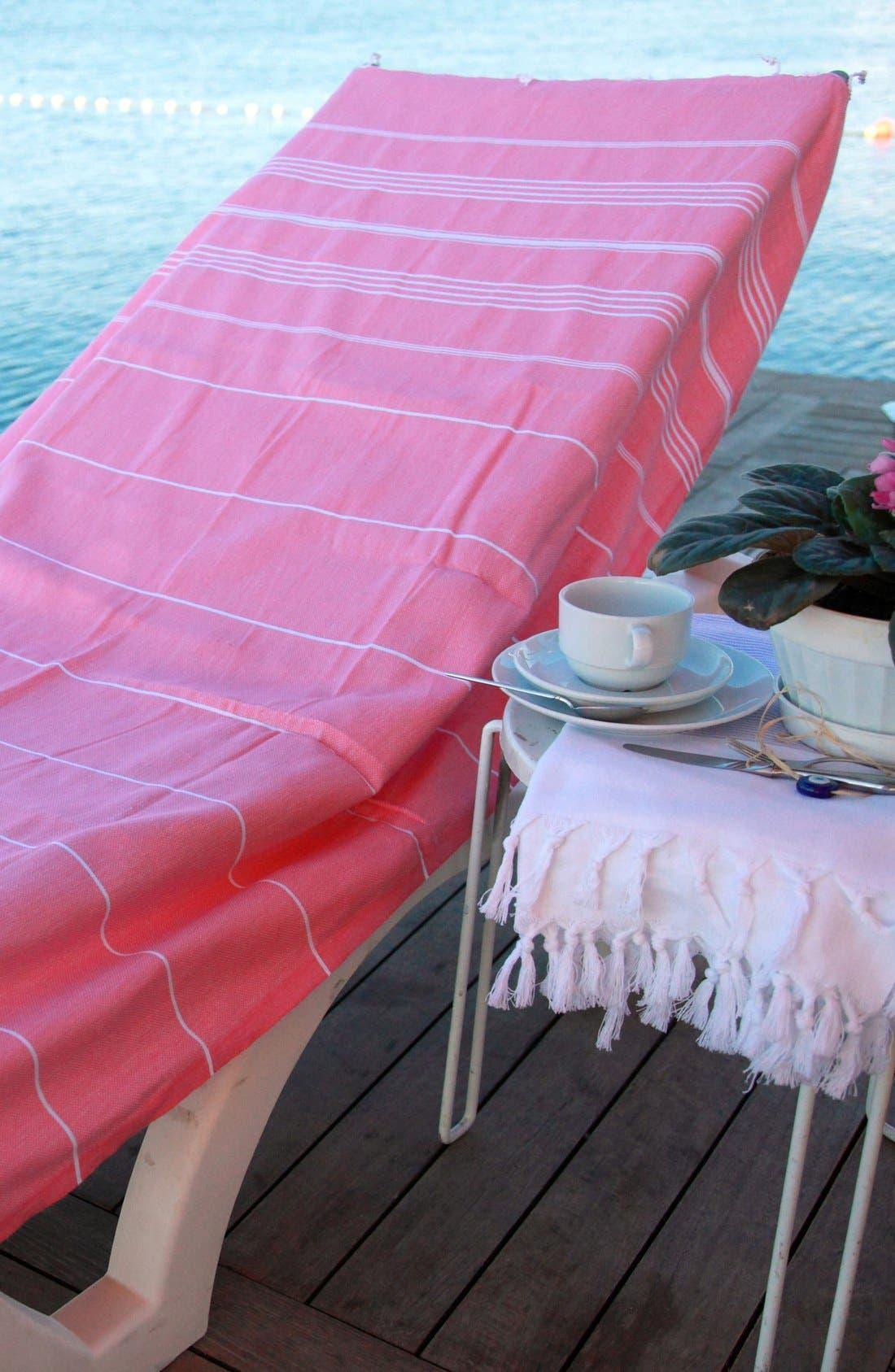 Alternate Image 2  - Linum Home Textiles 'Lucky' Turkish Pestemal Towel