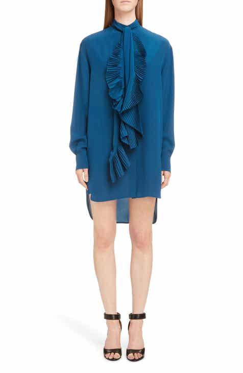 Givenchy Pleated Scarf Silk Dress