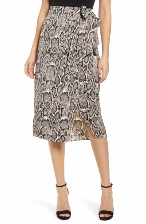 Gucci GG Logo Embossed Jacquard Skirt by GUCCI
