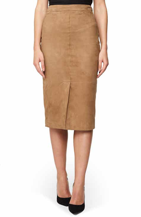 Reiss Ava Suede Skirt By REISS by REISS Bargain