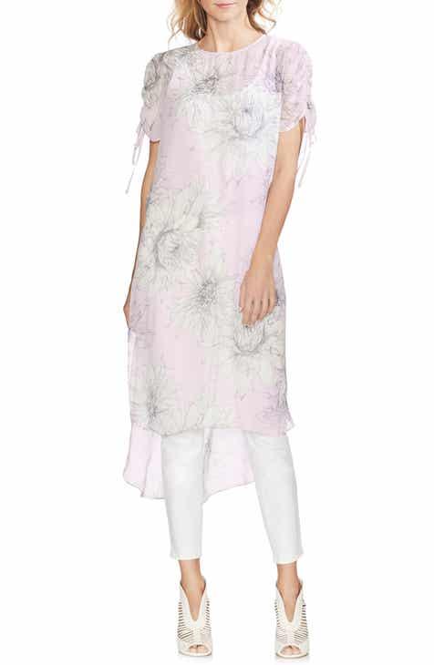 34da68343b63b Vince Camuto Pagoda Blossoms Shirttail Tunic