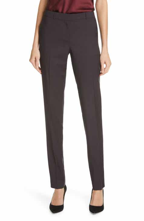 1.STATE Mini Windowpane Check Flat Front Ankle Pants by 1.STATE