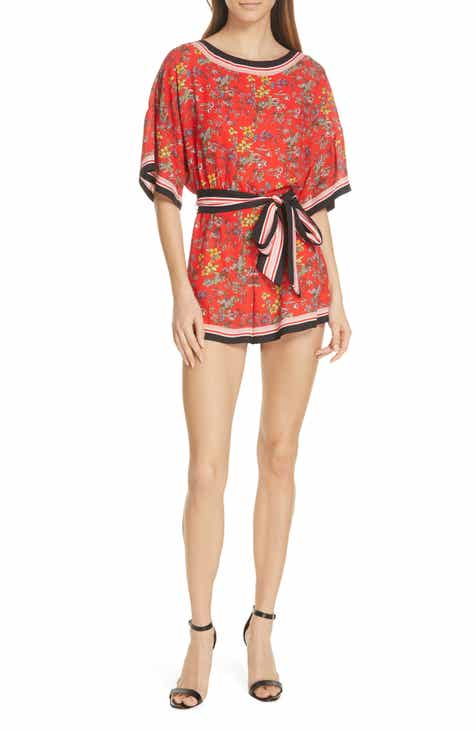 Alice + Olivia Bowie Floral Belted Romper by ALICE AND OLIVIA