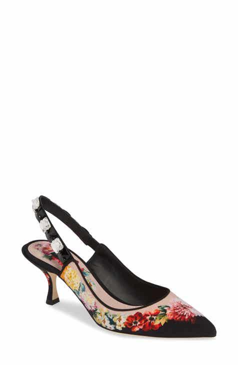 Dolce&Gabbana Floral Slingback Pump (Women)