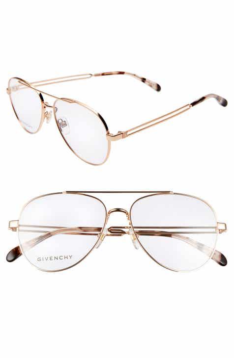 0819b2e125 Givenchy 56mm Aviator Optical Glasses