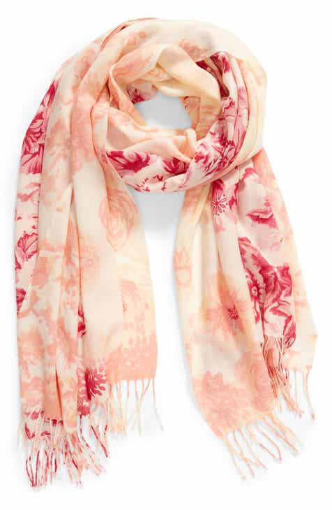 Nordstrom Tissue Print Wool   Cashmere Wrap Scarf 9efafa939