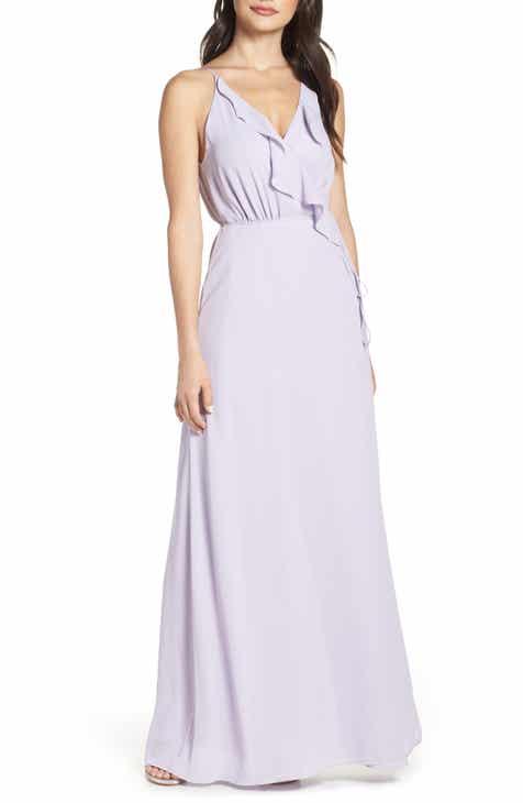 Eliza J Floral Ruffle A-Line Dress (Regular & Petite) by ELIZA J