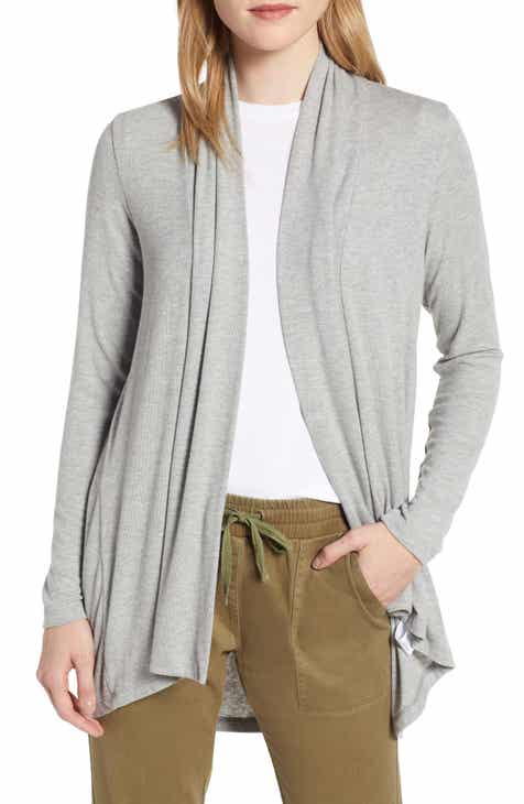 Bobeau High Low Jersey Cardigan (Regular   Petite) cd1a2aab8