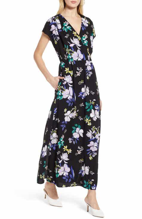 2f7c9af0c495 Halogen® V-Neck Maxi Dress (Regular & Petite)
