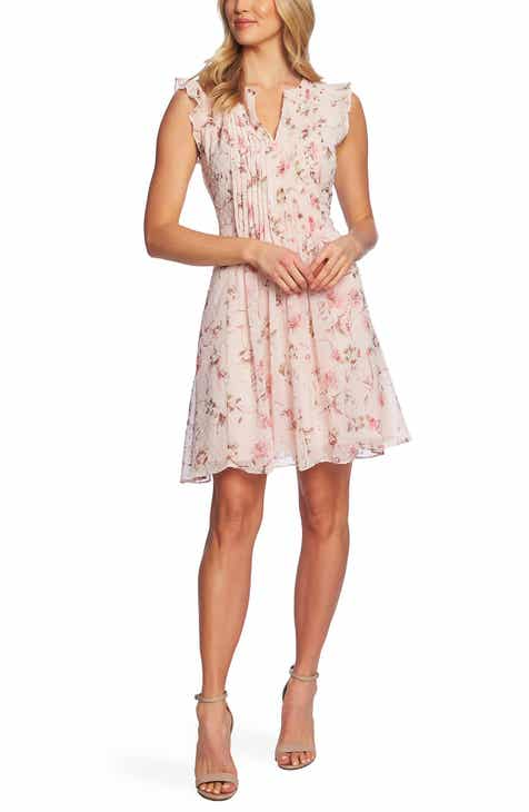 6f8fed7207c6 CeCe Duchess Floral Print Flutter Sleeve Dress