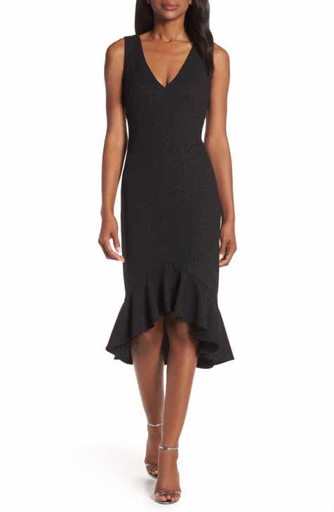 8534ace30d Vince Camuto High Low Flounce Hem Cocktail Dress