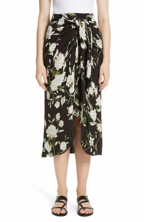 Johanna Ortiz Nostalgic Feeling Floral Print Faux Wrap Skirt by JOHANNA ORTIZ