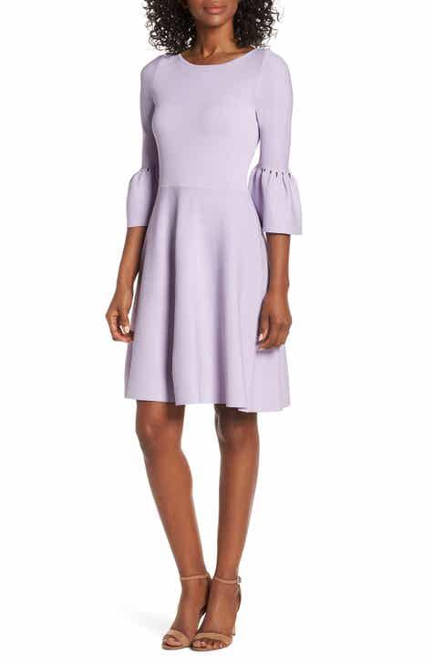350286e228 Eliza J Cutout Bell Sleeve Sweater Dress