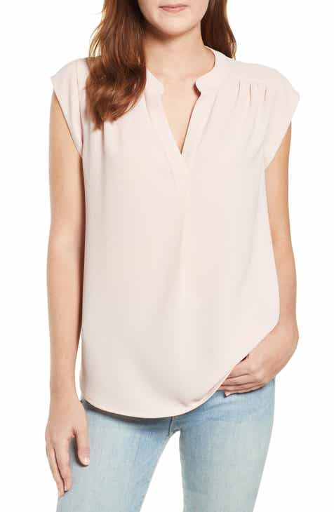 20755e3a7c38b Gibson x International Women s Day Ruthie Split Neck Blouse (Regular    Petite)