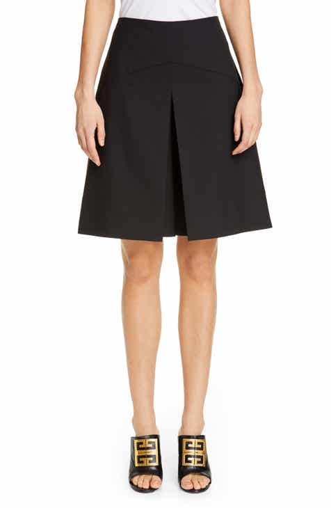 Givenchy Pleat Front Wool Shorts by GIVENCHY