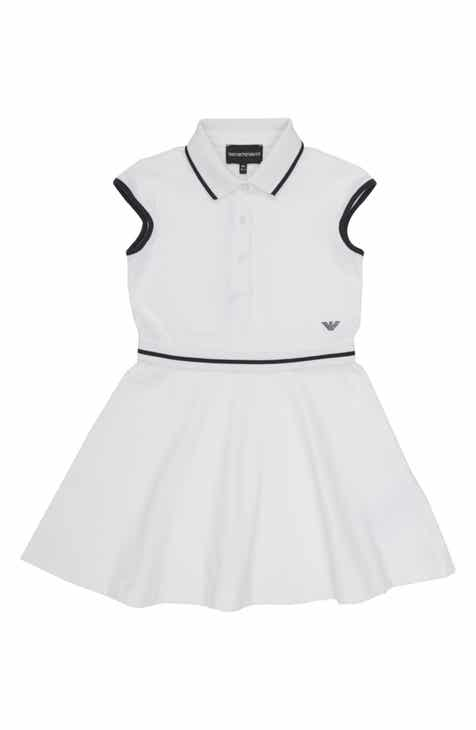 dbd72b3cd0e Armani Junior Cap Sleeve Tennis Dress (Little Girls   Big Girls)