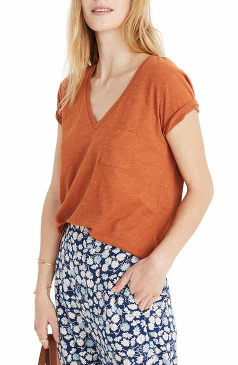 f1a339fe55a43 Madewell Whisper Cotton V-Neck Pocket Tee (Regular   Plus Size)