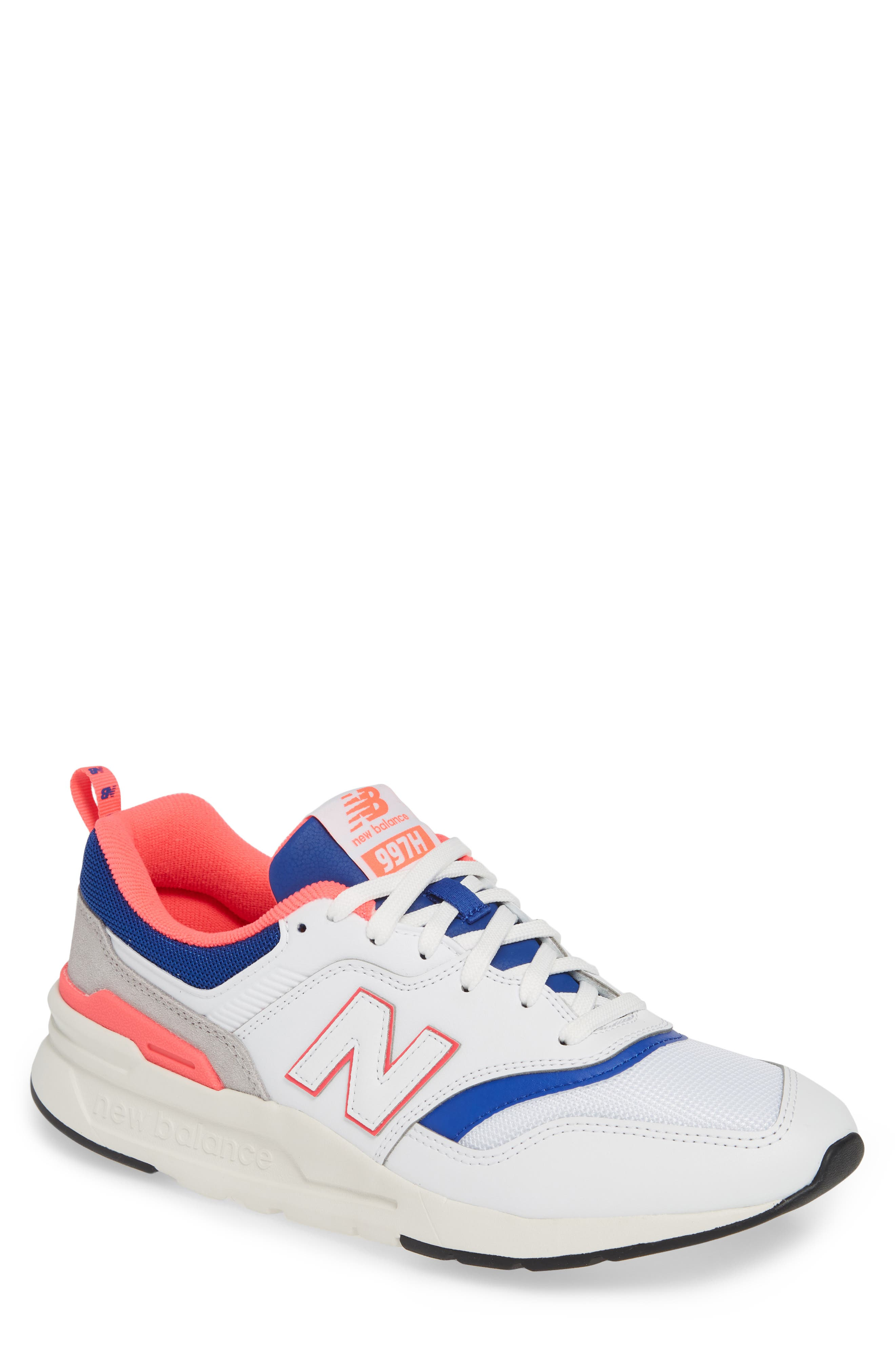 aeabd74eec392 White New Balance Running Shoes