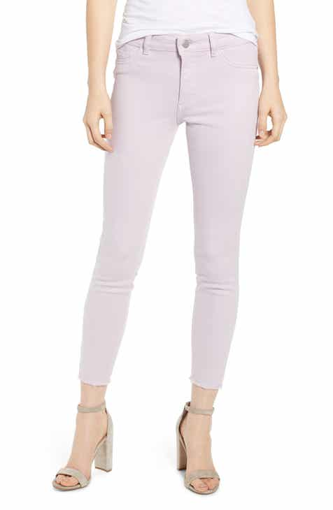 DL1961 Florence Instasculpt Raw Hem Crop Skinny Jeans (Orchid) by DL 1961