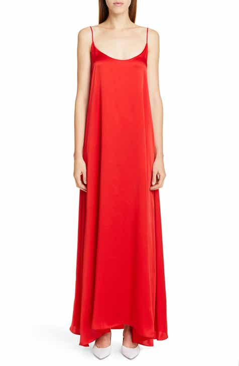 Best Design Mansur Gavriel Silk Satin Maxi Slipdress 2019 Sale