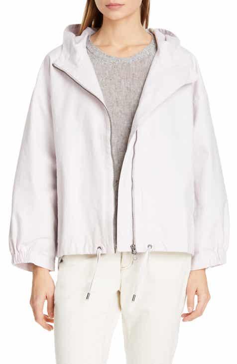 217f7434cf58 Eileen Fisher Organic Cotton Blend Hooded Jacket (Regular   Petite)