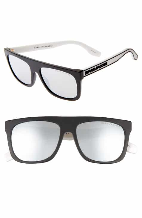 fc696eac5c0 MARC JACOBS 56mm Mirrored Flat Top Sunglasses.  98.00. Product Image. BLACK