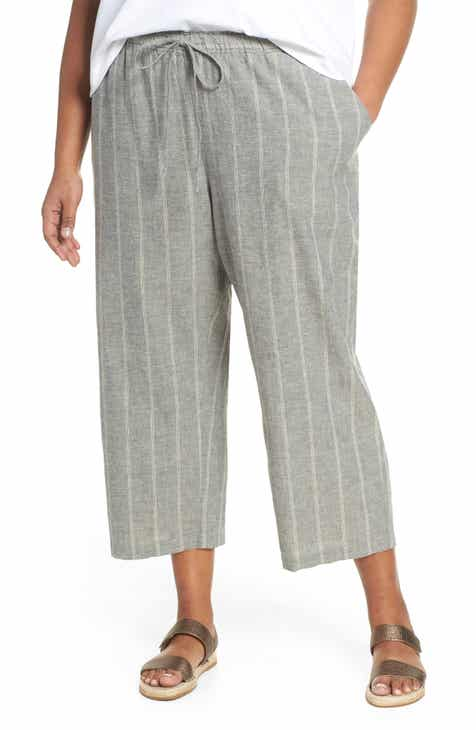 3dbc3f8ccfb Eileen Fisher Hemp   Organic Cotton Crop Pants (Plus Size)