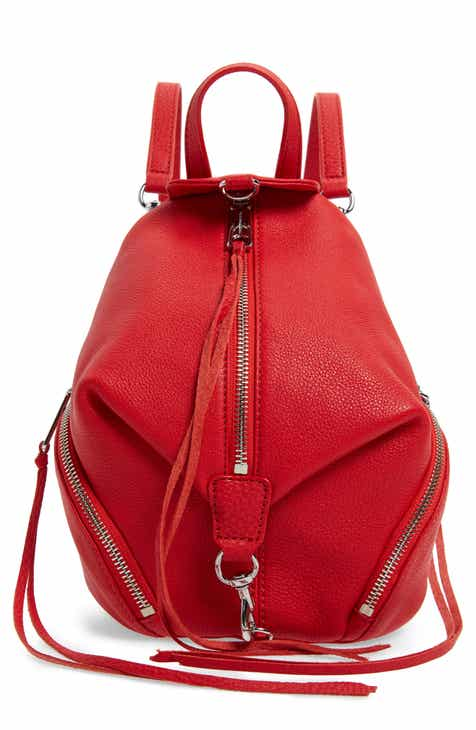 21a377afad1 Rebecca Minkoff Mini Julian Pebbled Leather Convertible Backpack