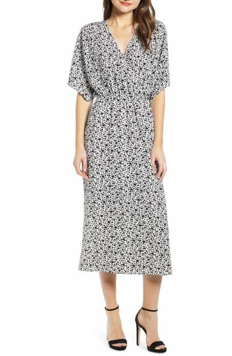 8e0ddceaf7cc All In Favor Floral Print Midi Dress