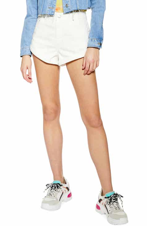 Topshop Kiri Roll Hem Denim Shorts by TOPSHOP