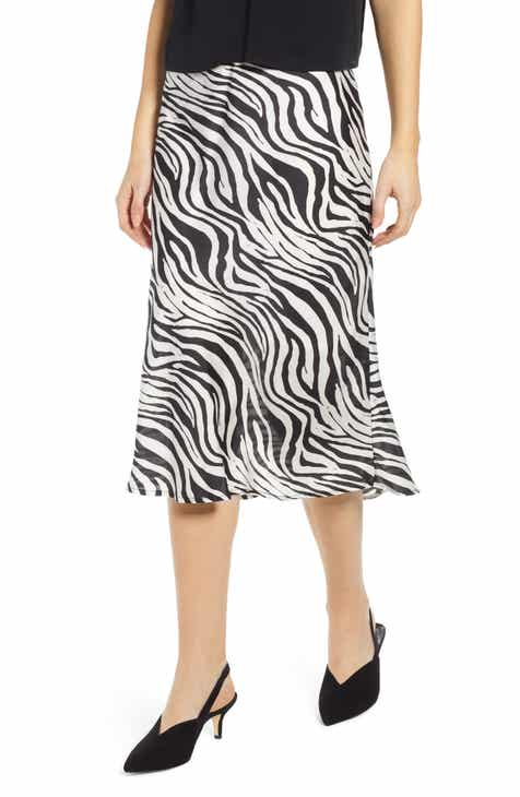 Alice + Olivia Caily Ruffle Detail Wrap Front Skirt by ALICE AND OLIVIA
