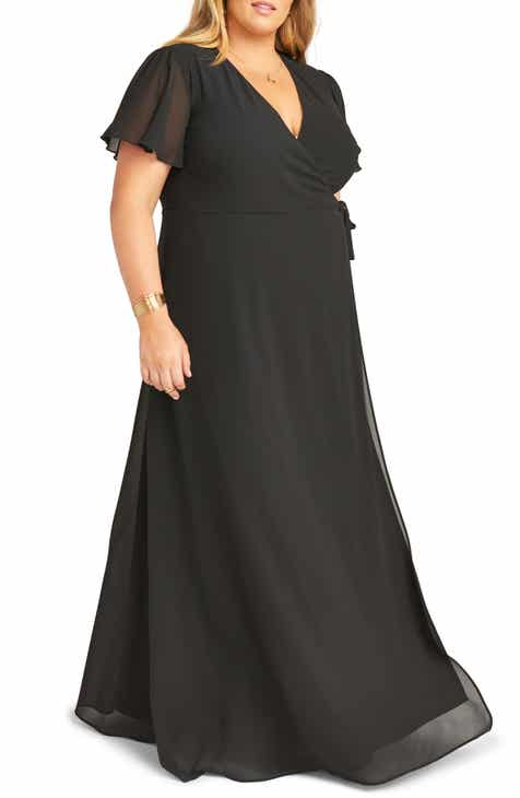 Show Me Your Mumu Noelle Wrap Style Evening Dress (Plus Size)