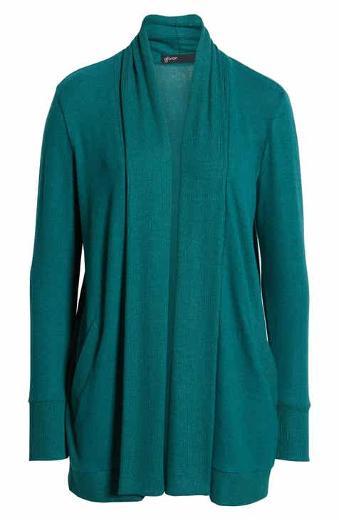 Gibson Cozy Ribbed Cardigan (Regular   Petite) 2b92429ec