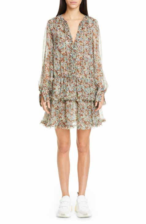 Stella McCartney Meadow Floral Print Silk Dress by STELLA MCCARTNEY