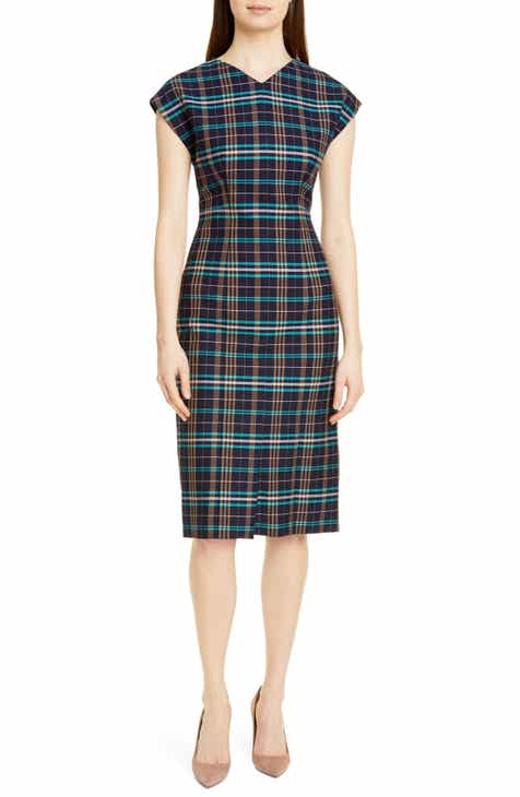 BOSS Daela Plaid Stretch Cotton Dress (Regular & Petite) by BOSS HUGO BOSS