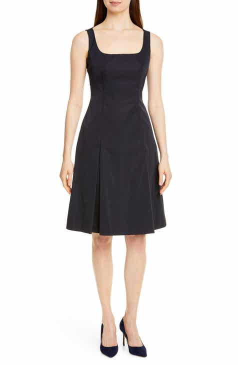 BOSS Dafa Square Neck Pleat Front Dress by BOSS HUGO BOSS