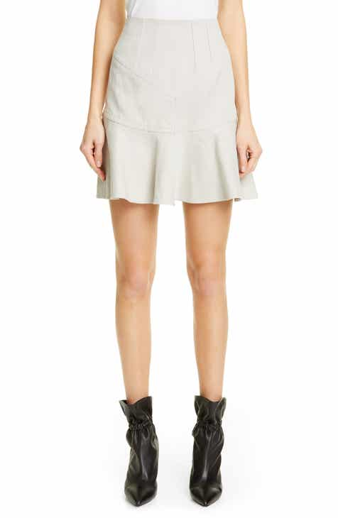 Isabel Marant Kelly Flutter Hem Cotton & Linen Skirt by ISABEL MARANT