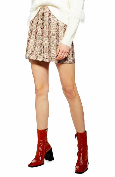Topshop Dixie Faux Leather Miniskirt by TOPSHOP