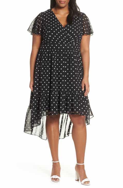 e301da050c41 Vince Camuto Print High Low Chiffon Dress (Plus Size)