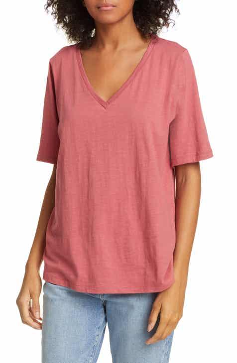 Eileen Fisher V-Neck Organic Cotton Tee 65498c357